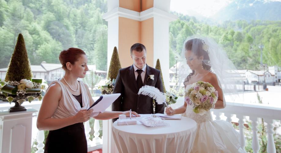 Свадьба на гонром курорте mercure rosa khutor 4